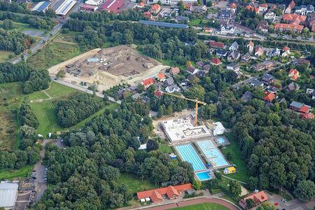 Luftaufnahme Baustelle Krandelbad