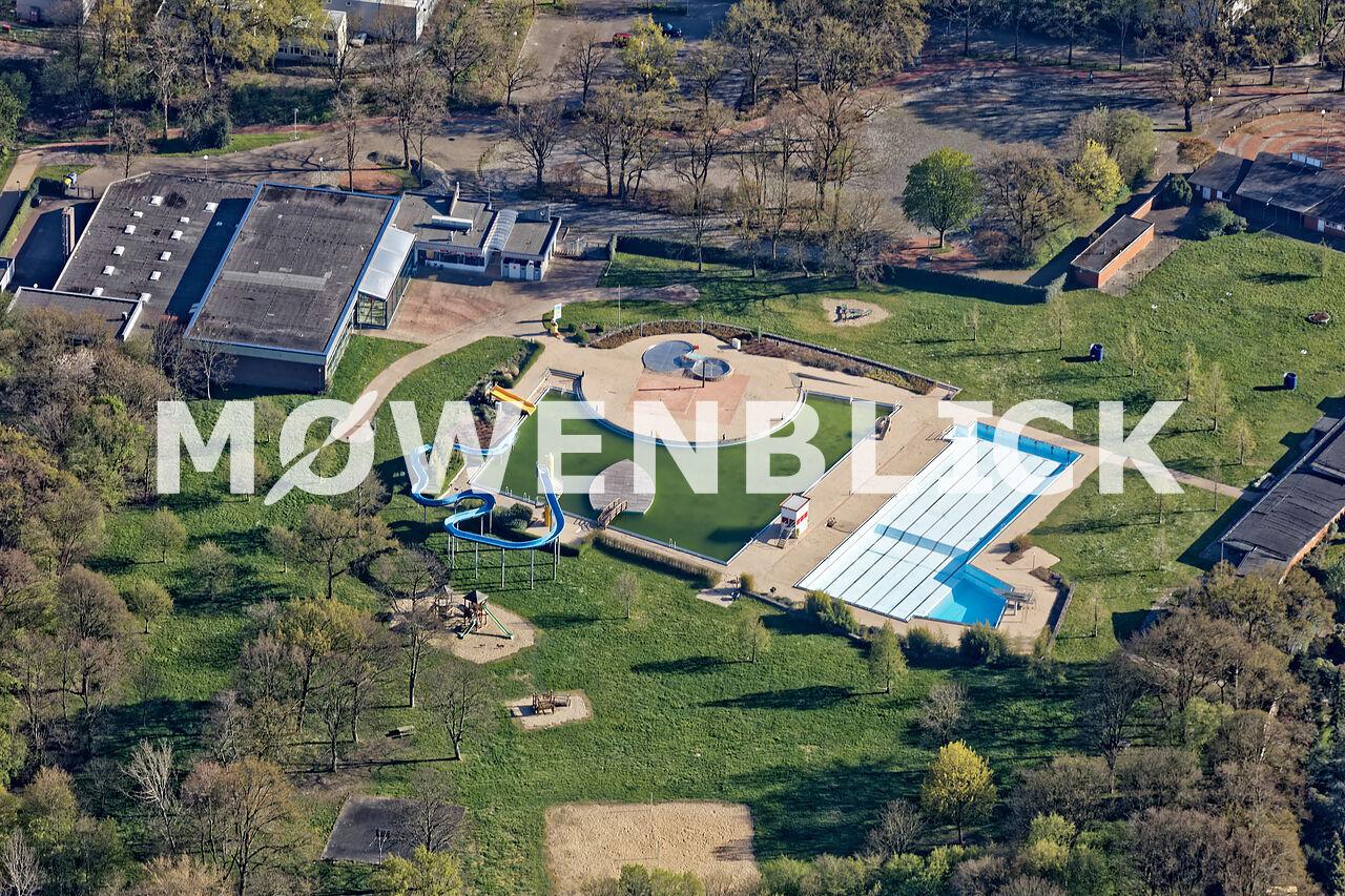 Freibad Schloßparkbad Luftbild