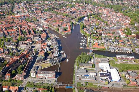 Luftaufnahme Alter Binnenhafen Delft