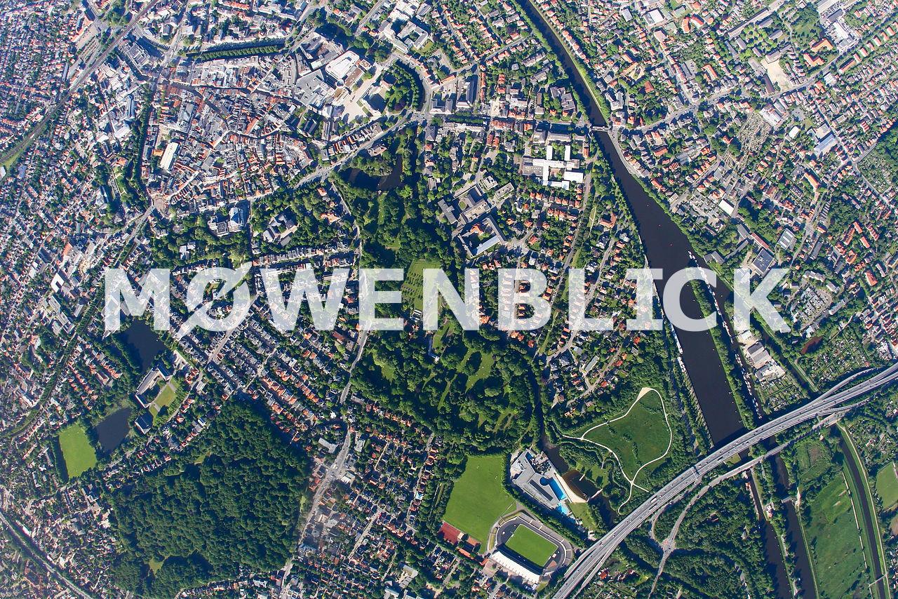 Senkrechtaufnahme Schloßgarten Luftbild