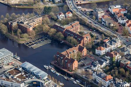 Luftaufnahme Wendehafen