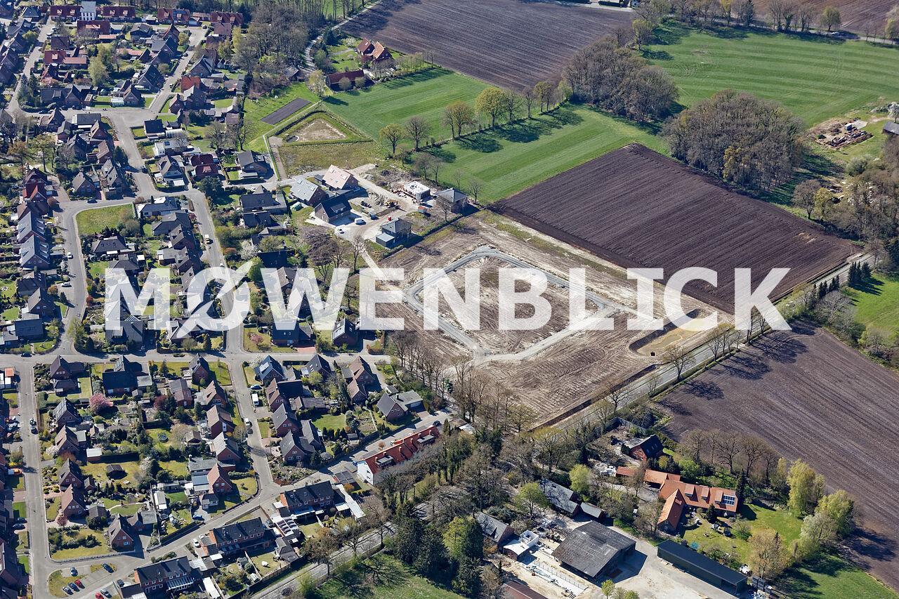Heidkamp Neubaugebiet Luftbild