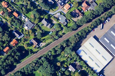 Luftaufnahme Bahnanlage