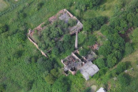 Luftaufnahme Ziegeleiruine Ziegelei Schmidt