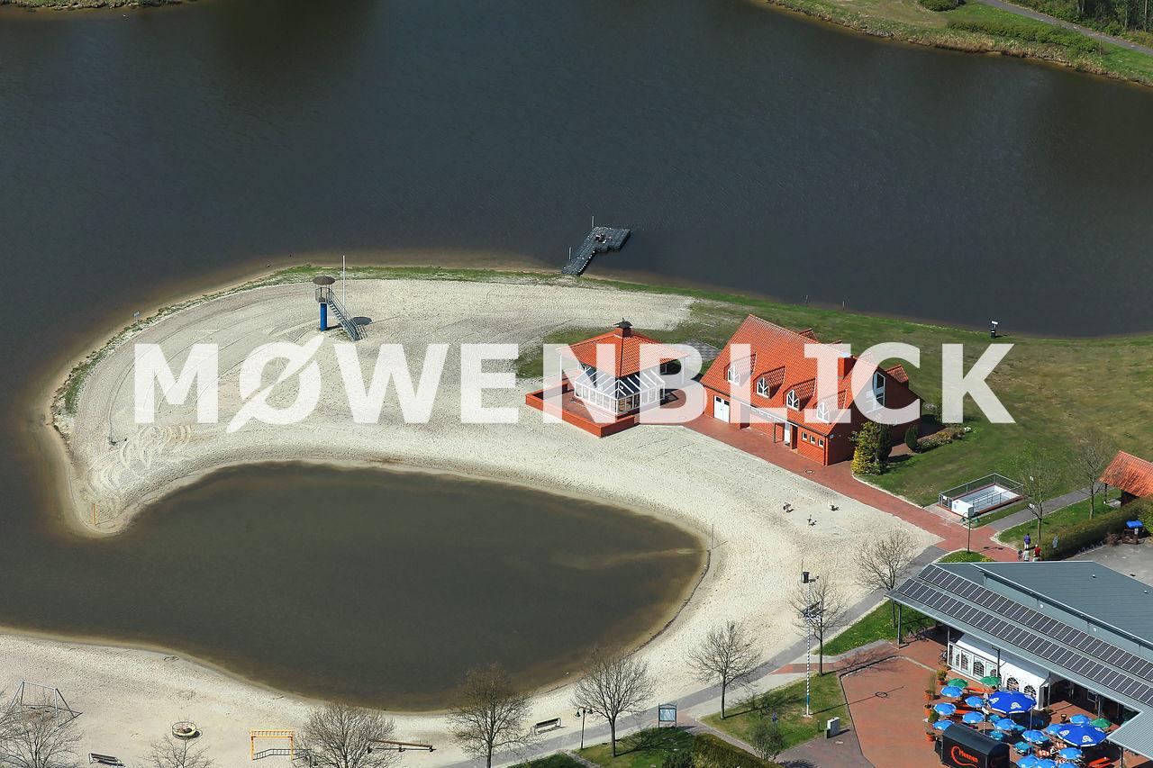 Ihler Meer Strand Luftbild