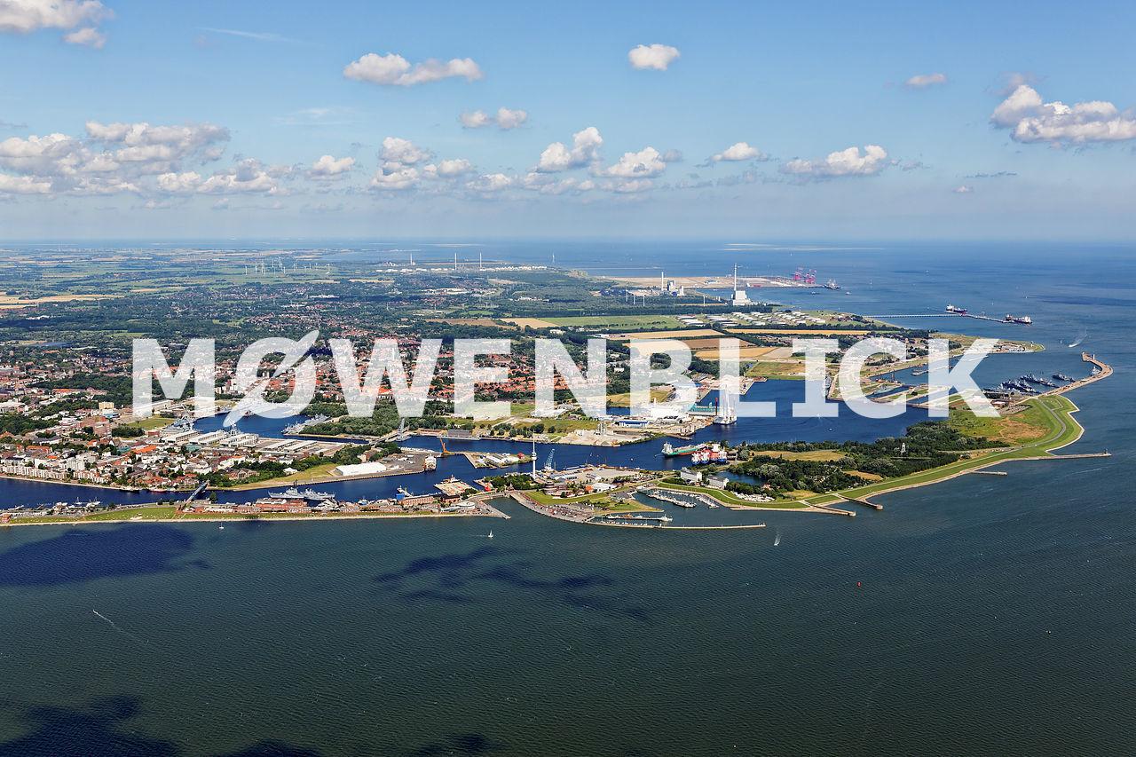 Hafen und Innenstadt Luftbild