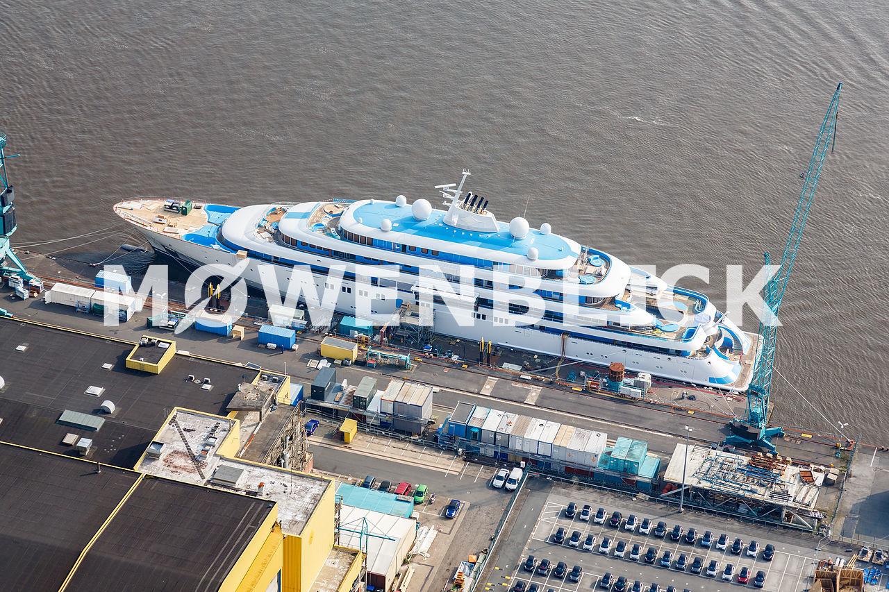 Schiff in Bau Luftbild