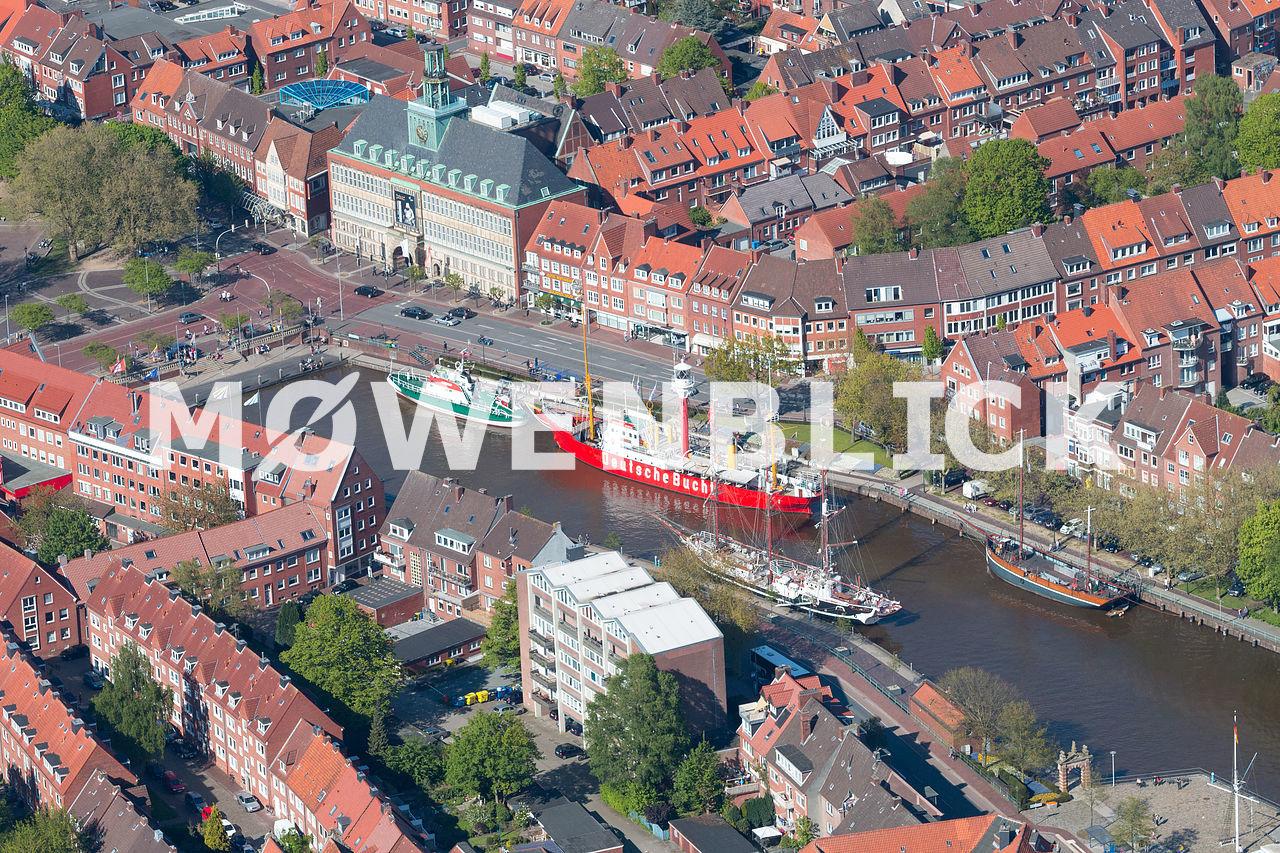 Alter Binnenhafen Delft Traditionsschiffe Luftbild
