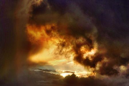 Luftaufnahme Wetter und Wolken