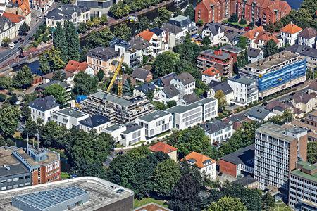 Luftaufnahme Stadt der Baustellen