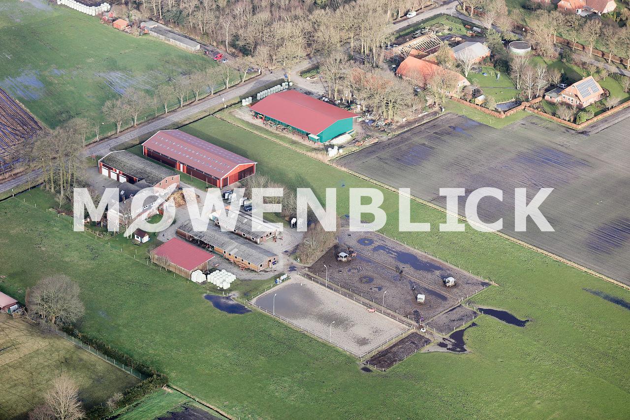 Reitanlage Woldlinie Luftbild