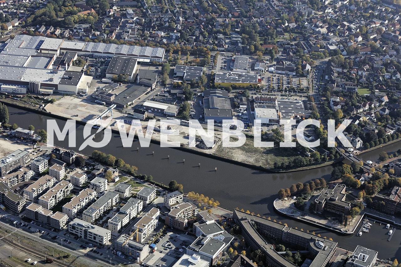 Rheinumschlag Luftbild