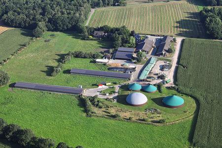 Luftaufnahme Biogas