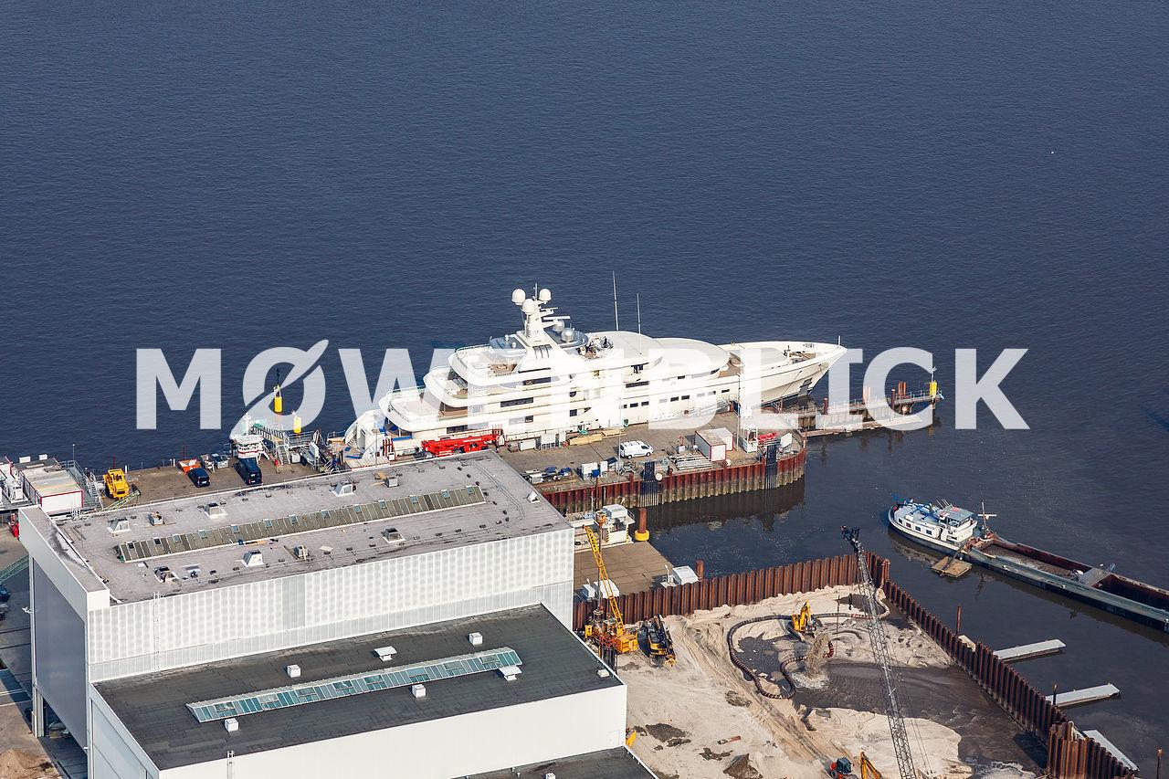 Schiff Neubau Luftbild