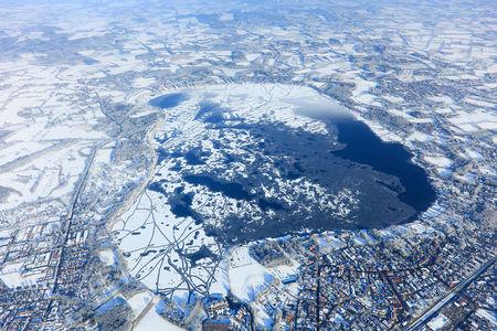 Luftaufnahme Zwischenahner Meer im Winter