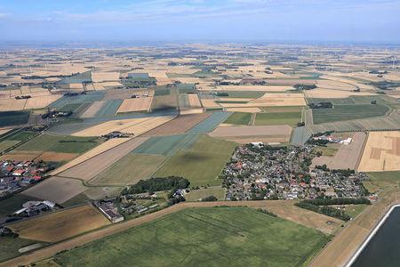 Luftaufnahme Büsumer Deichhausen