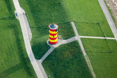 Luftaufnahme Pilsumer Leuchtturm
