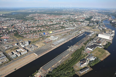 Luftaufnahme Europahafen