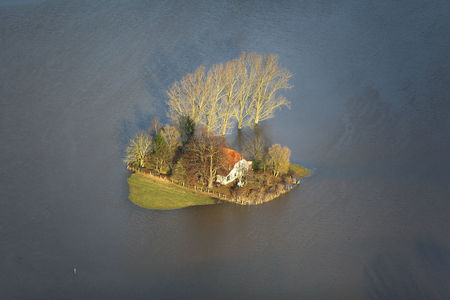 Luftaufnahme Überflutete Allerwiesen