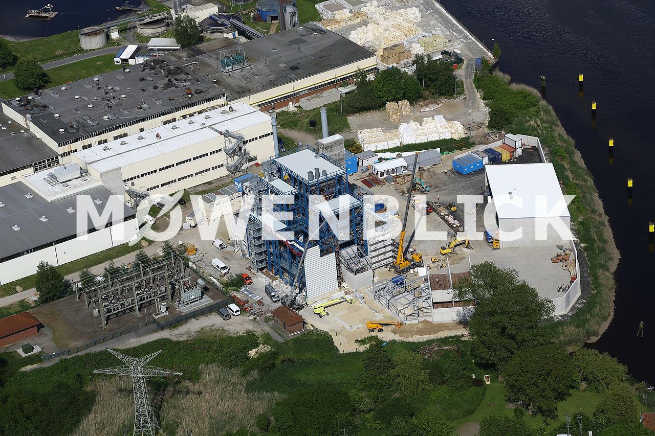 Biomassekraftwerk Luftbild