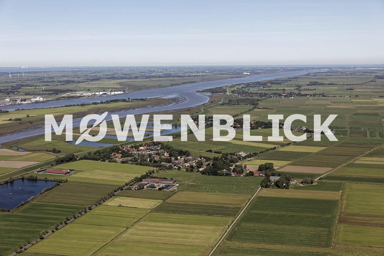 Rechter Nebenarm der Weser Luftbild