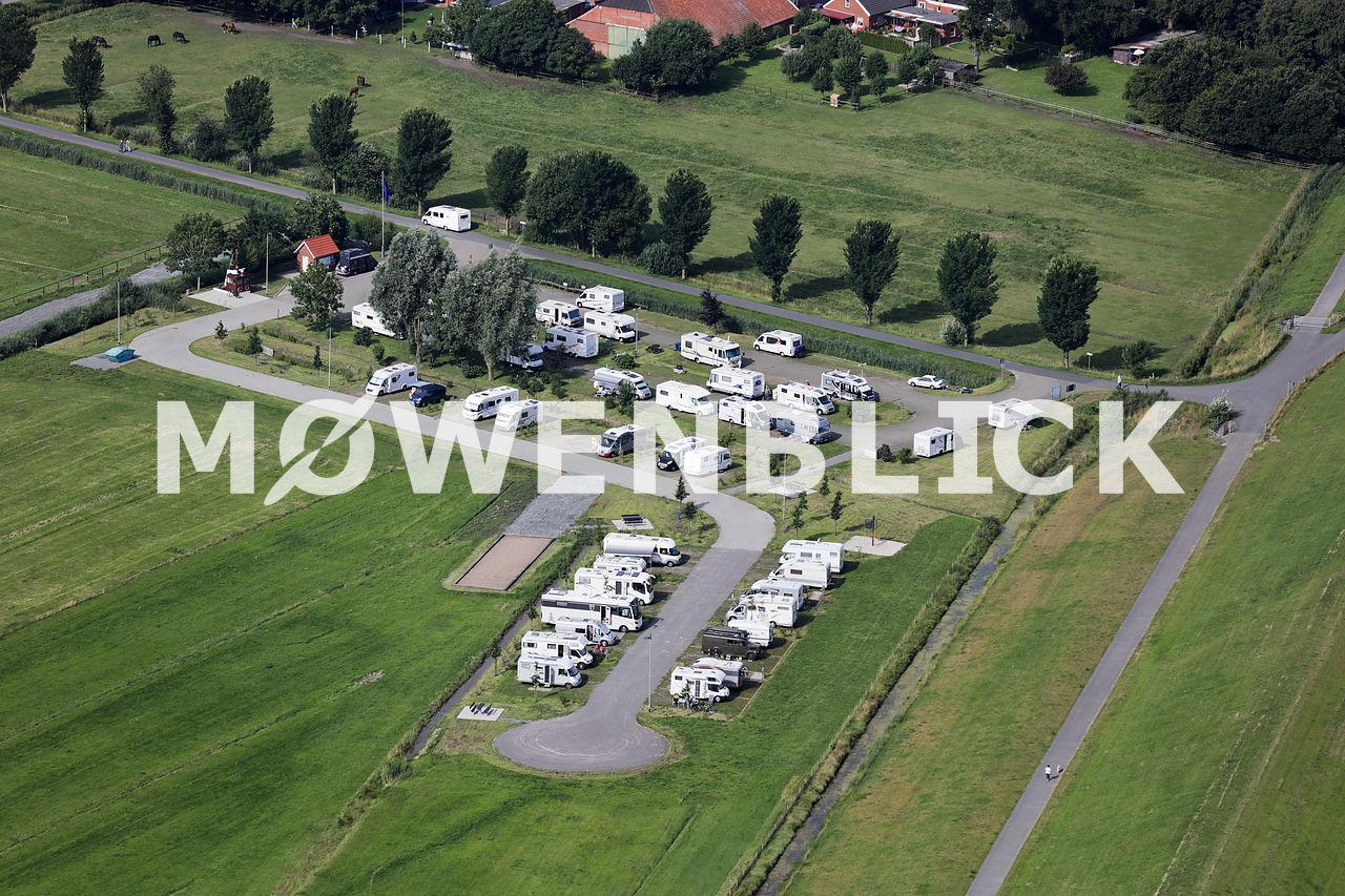 Großparkplatz am Deich Luftbild