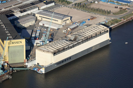 Brand Schwimmdock Lürssen Werft