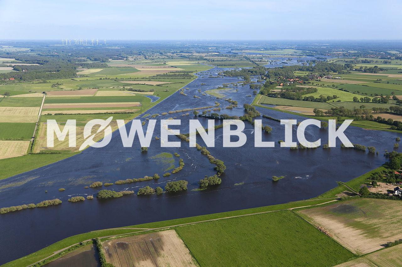 Allerüberschwemmung Luftbild
