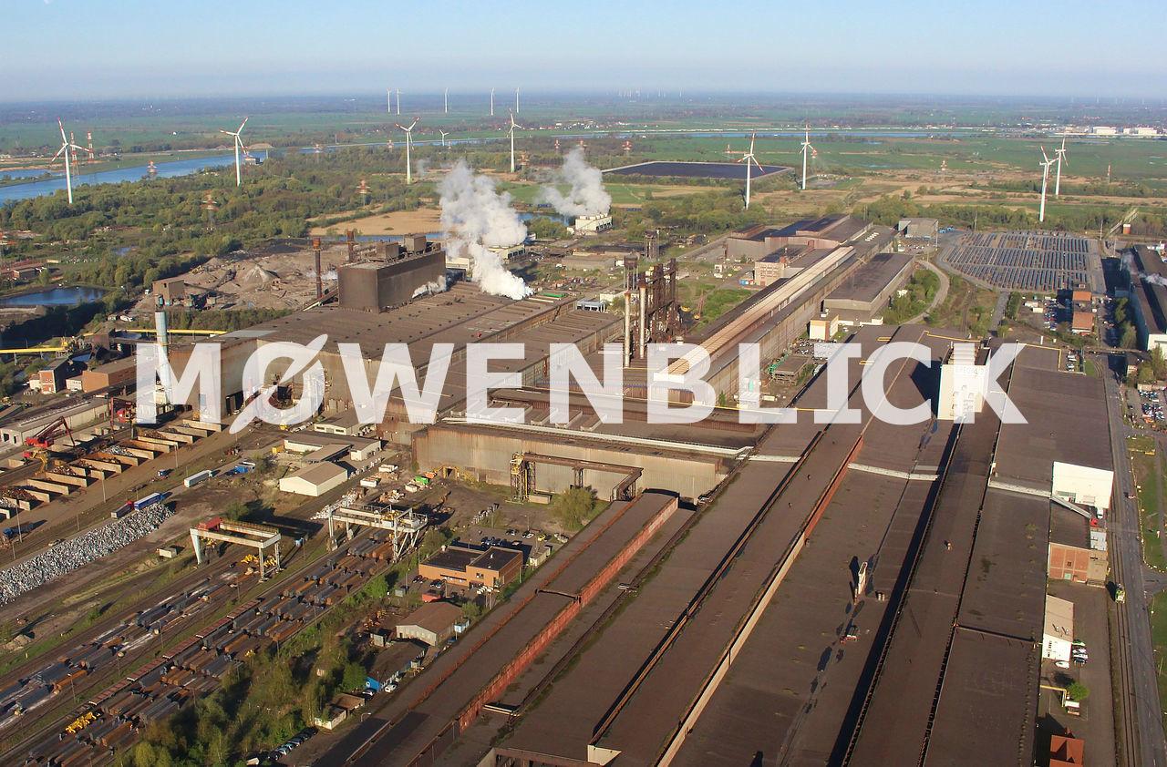 Stahlwerk Luftbild
