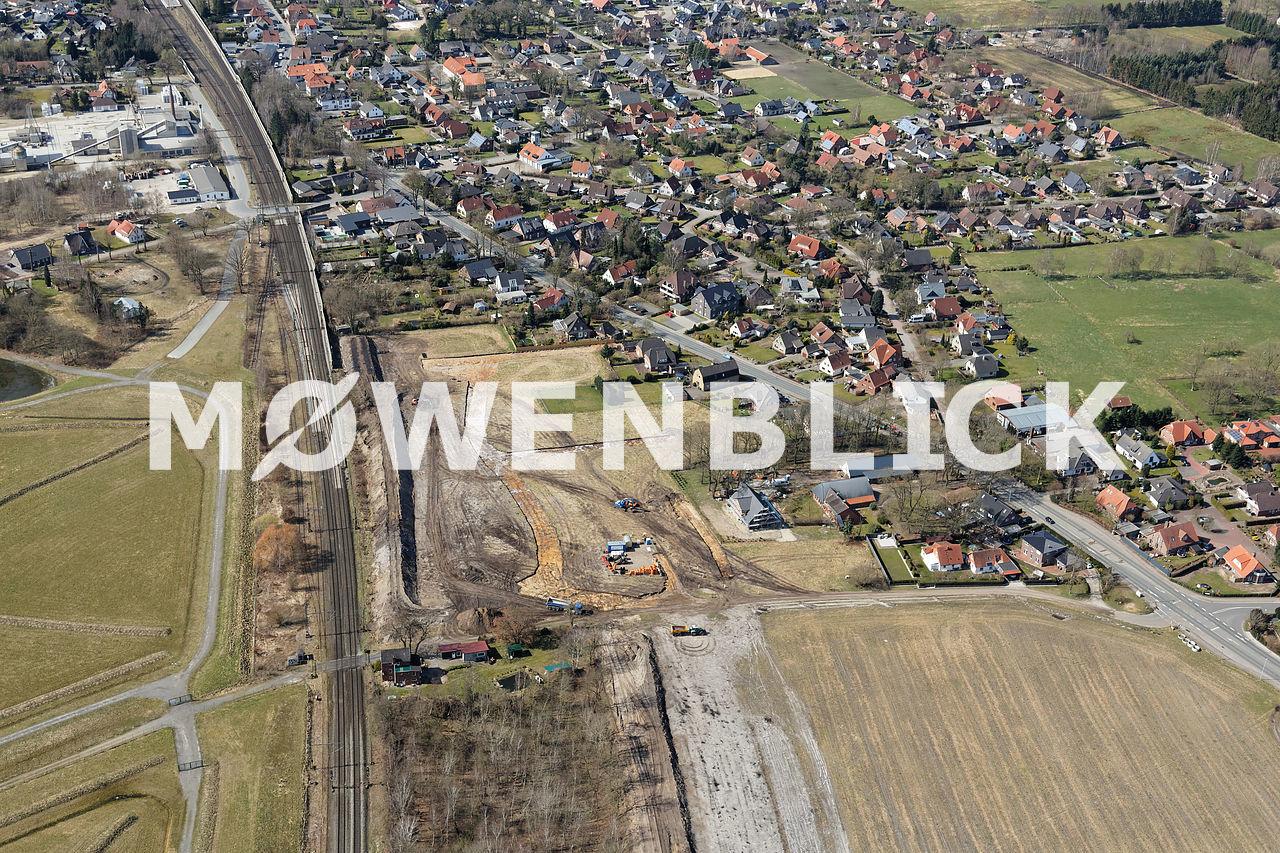 Bebauung Nutzhorner Straße Luftbild
