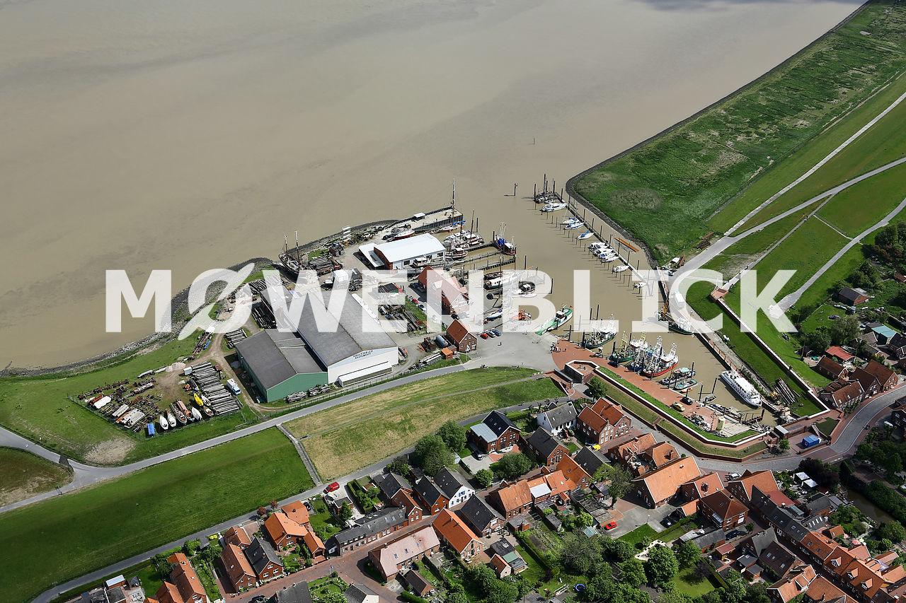 Am Hafen Ditzum Luftbild