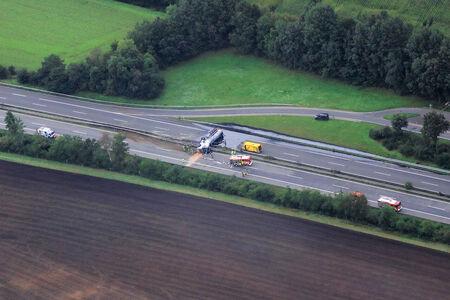 Lastwagenunfall auf der A28
