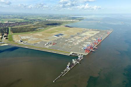 Luftaufnahme Jade Weser Port