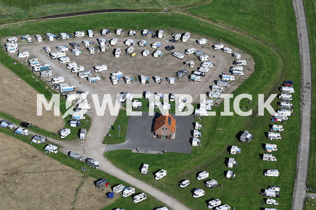 Außenhafen Wohnwagenstellplatz Luftbild