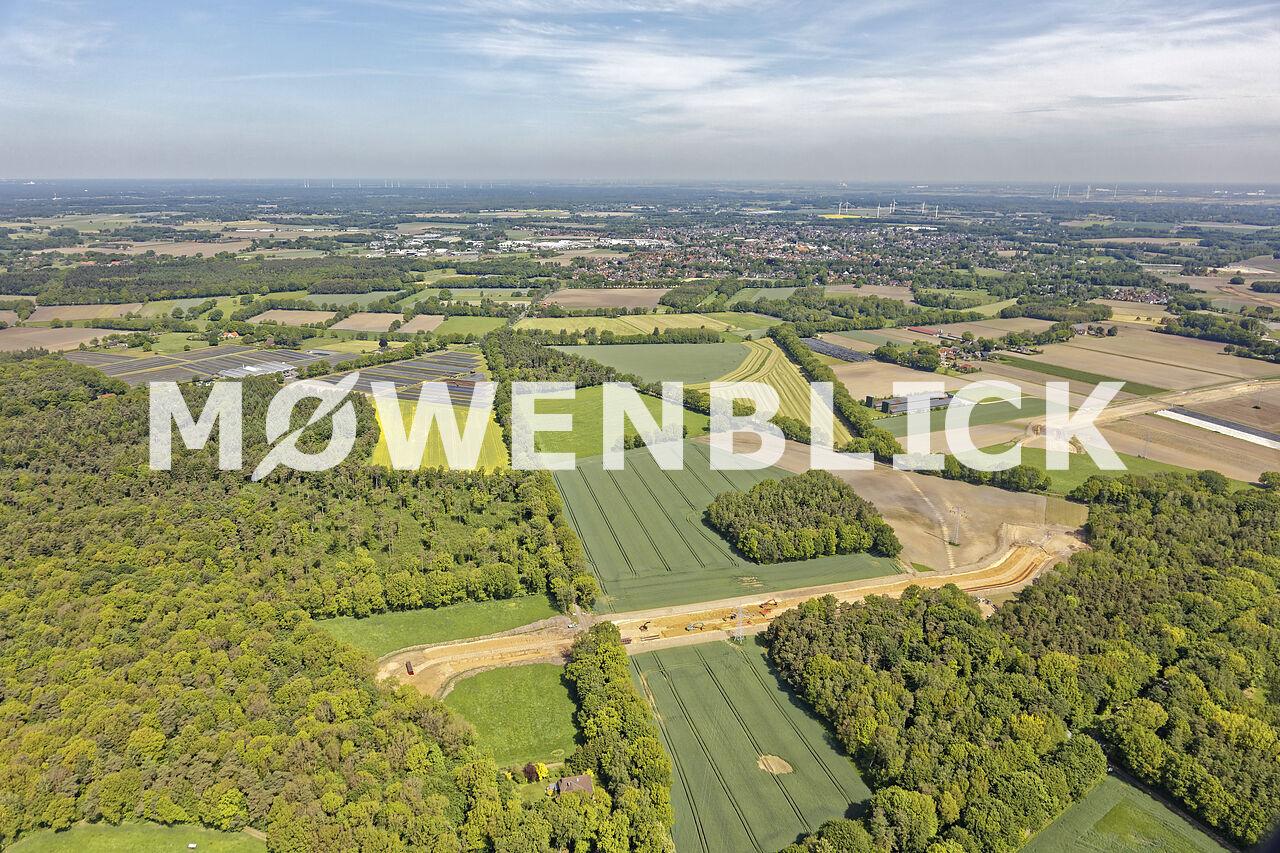 Erdarbeiten Wildeshauser Landstraße Luftbild