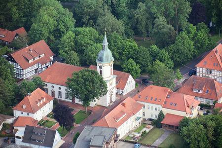 Luftaufnahme Ev.-Luth. Kirchengemeinde St. Nicolai