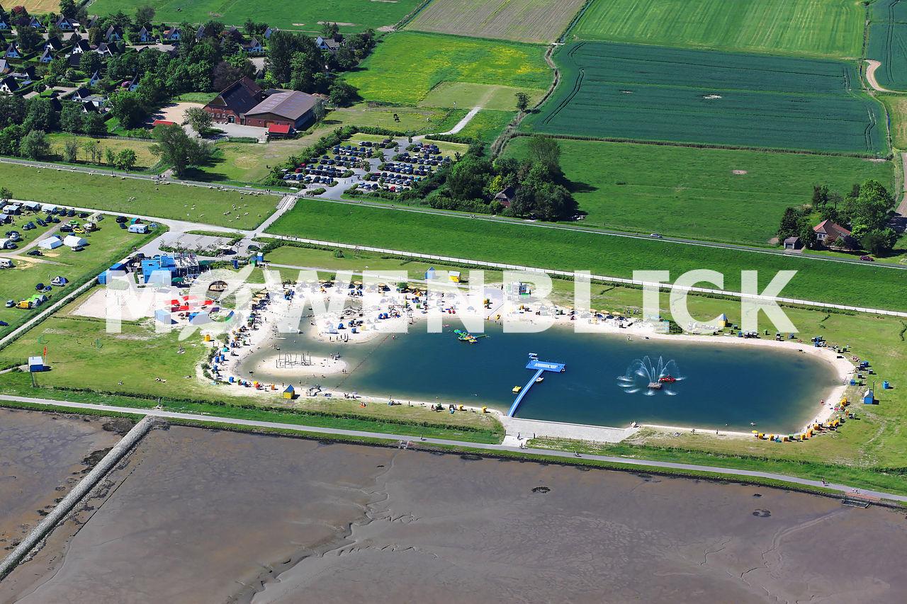 Lagune Luftbild