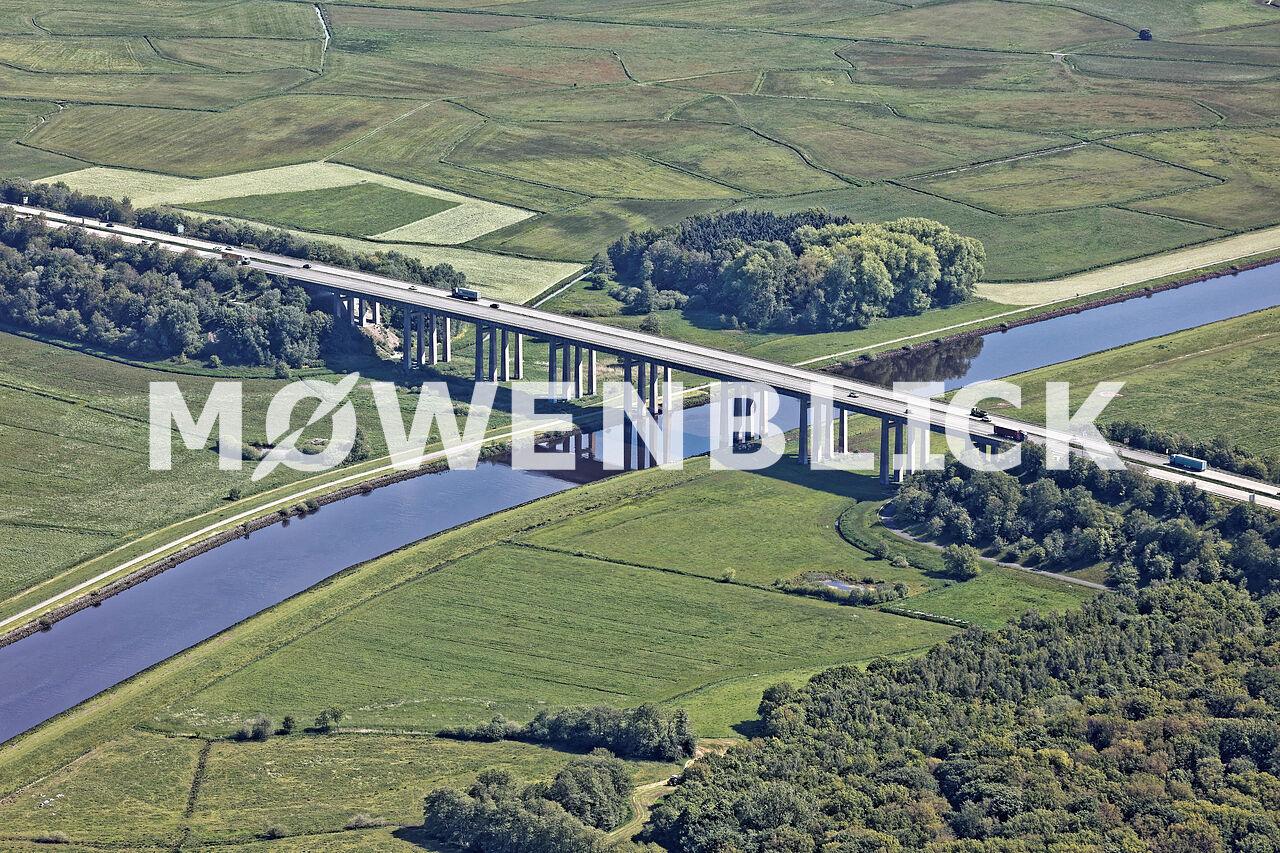 Autobahnbrücke über die Hunte Luftbild