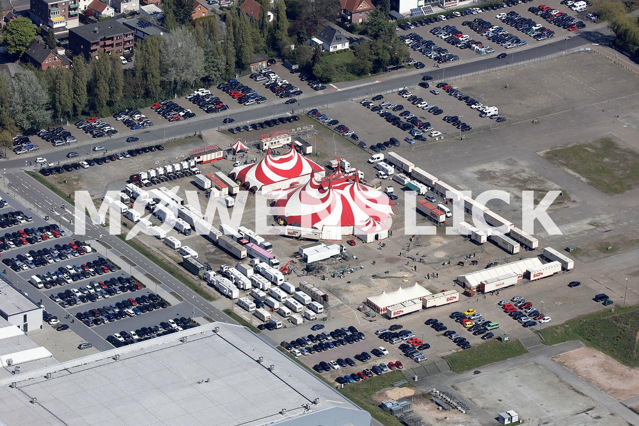 Charles Knie Cirkus Luftbild