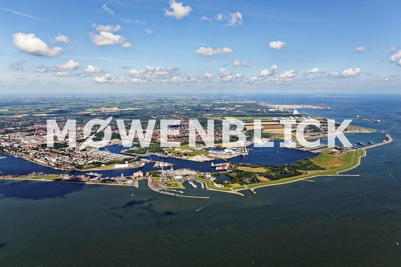 Gesamtaufnahme Wilhelmshaven Luftbild