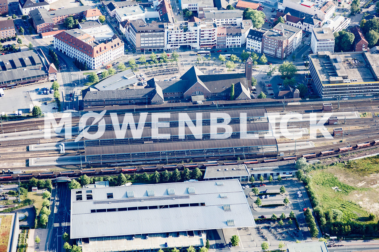 Gleishalle Luftbild