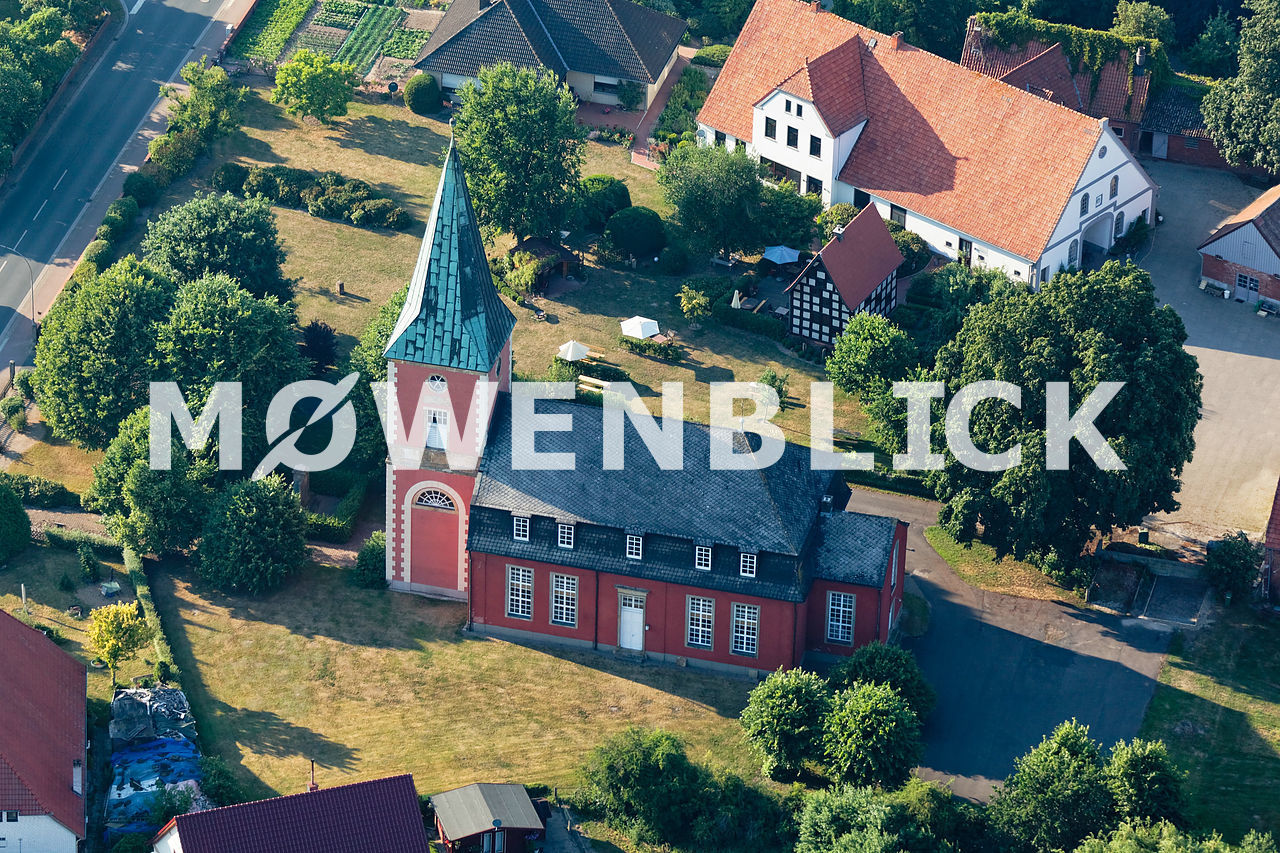St. Michaelis Intschede Luftbild