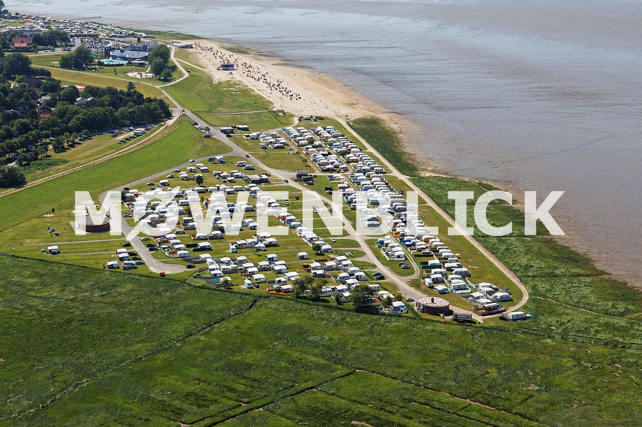 Strand Campingplatz Luftbild