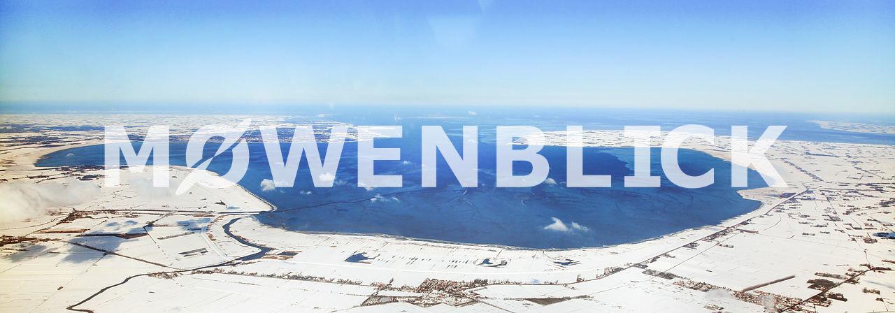 Jadebusen im Winter bei Schnee Luftbild