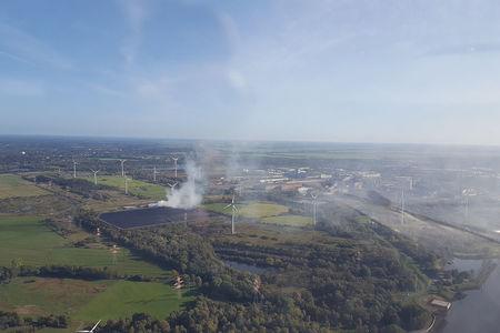 Luftaufnahme Schlacke Stahlwerk