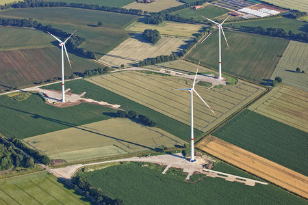 Luftaufnahme Neubau Windpark