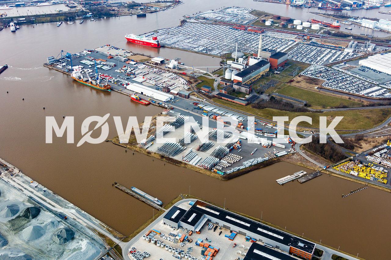 Emden E P A S Luftbild