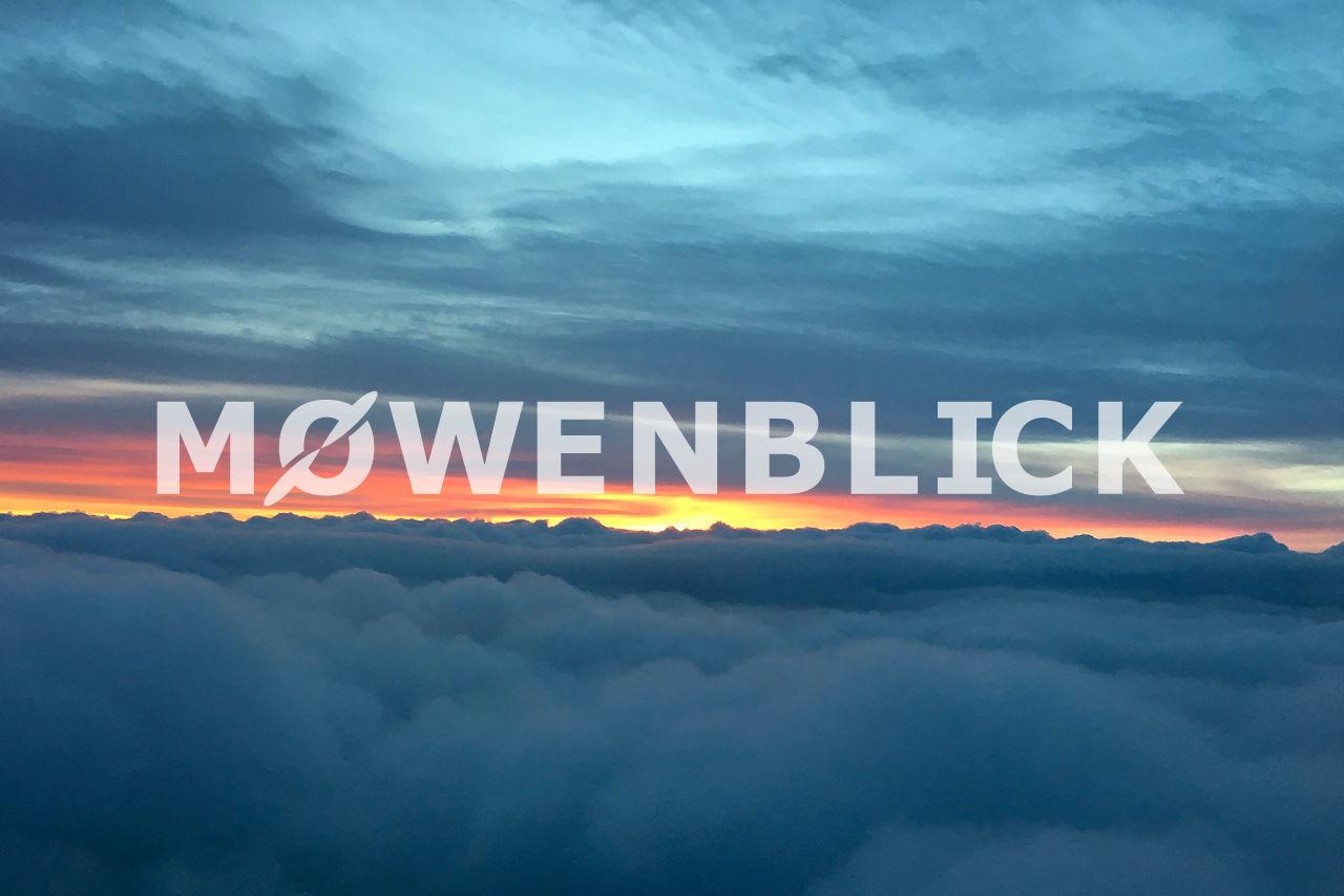 Abendsonne über den Wolken Luftbild