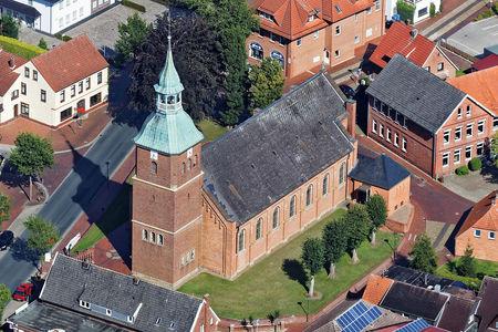 Luftaufnahme St. Cosmas und Damian