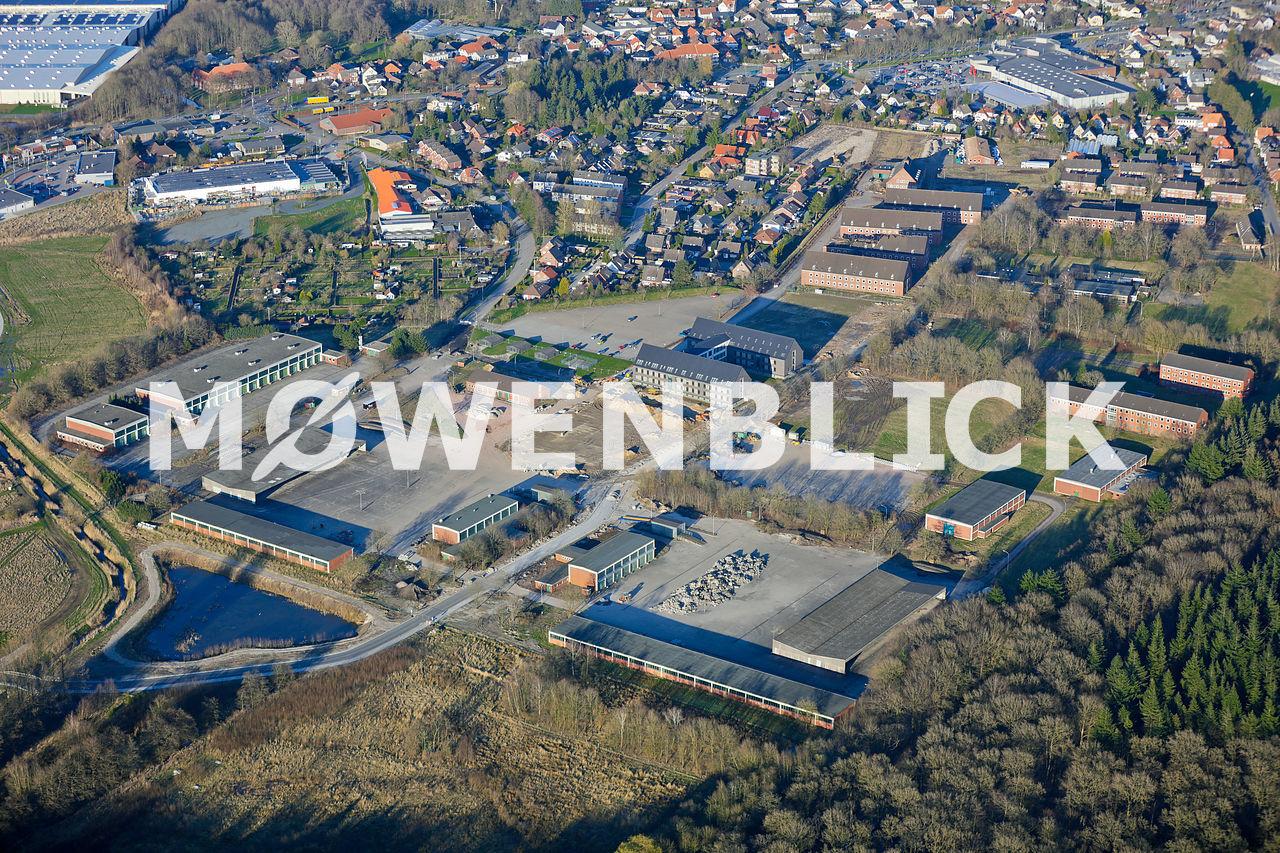 Kasernenbaustelle Luftbild